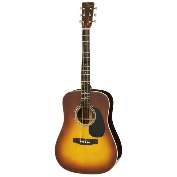 【送料込】【ケース付】ARIA アリア AD-40LTD SB Sunburst Solid Sitka Spruce トップ ドレッドノートタイプ アコースティックギター 【smtb-TK】