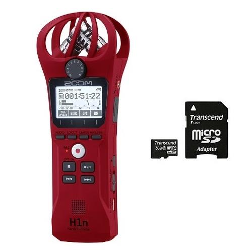【送料込】【microSDHCカード/8GB付】ZOOM ズーム H1n/R レッド シンプル操作の高音質レコーダー 愛曲楽器創業70周年記念モデル/愛曲楽器限定販売【smtb-TK】