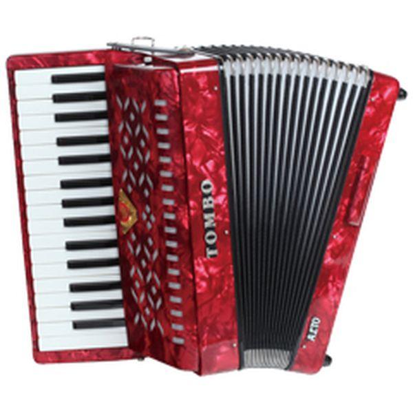 【送料込】TOMBO トンボ TB-32A アルト 赤パール Ensemble 合奏用アコーディオン 32鍵【smtb-TK】