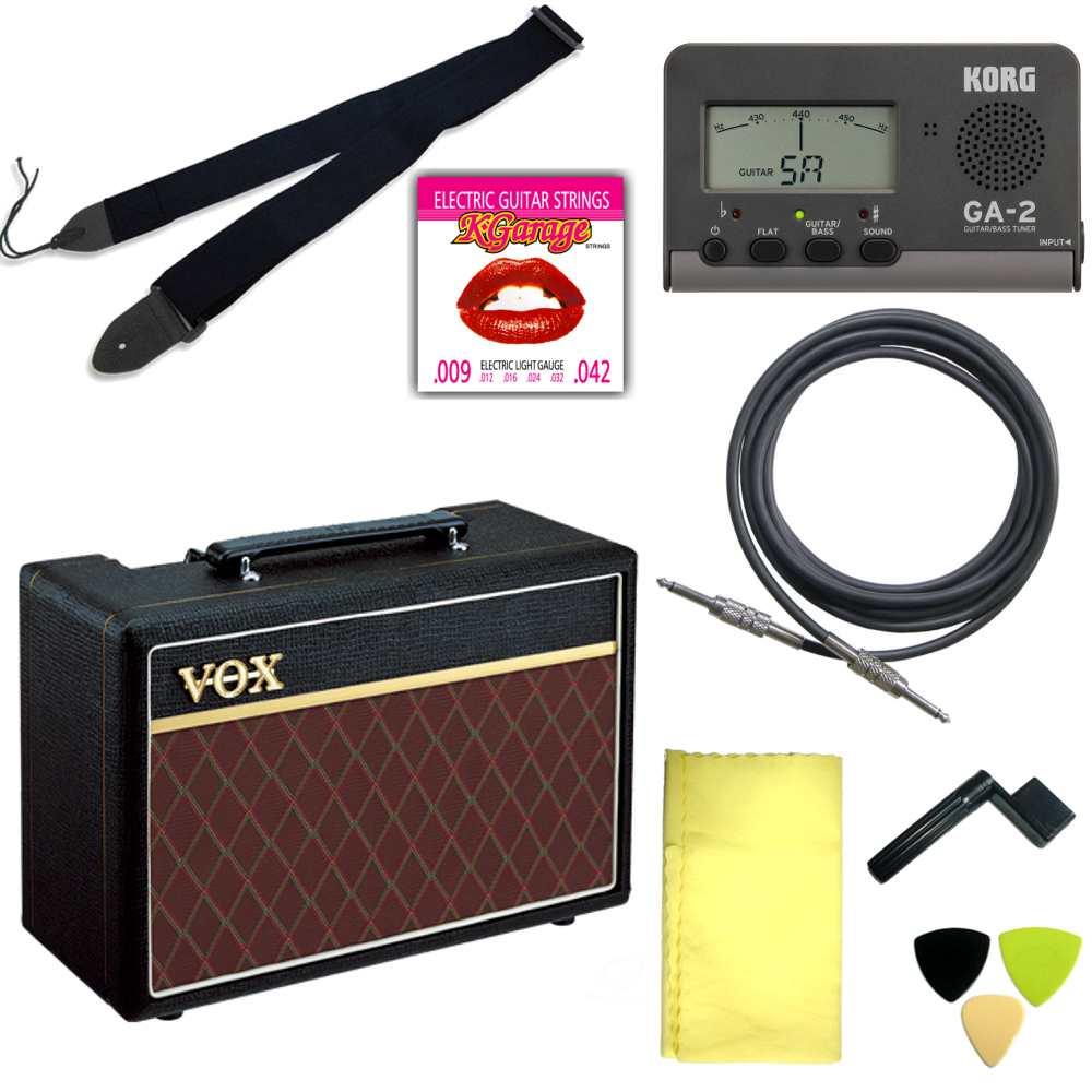 【送料込】エレキギター用アクセサリー定番8点セット/VOXアンプ【smtb-TK】