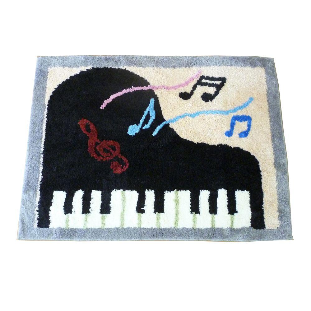 ピアノ椅子 全品送料無料 ピアノイス マット 絨毯 じゅうたん キズ防止 玄関マット 送料込 メロディーII イトマサ 送料無料カード決済可能 ピアノ 90×65cm ピアノ柄 チェアマット smtb-TK ITOMASA