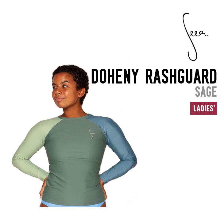サーフウェア スイムウェア ラッシュガード 日焼け対策 女性用 SEEA シーア RASHGUARD サーフィン 水着 レディース ドヒニー 激安セール 本物 DOHENY