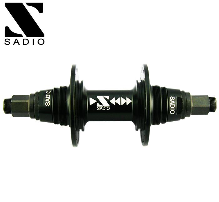 SADIO サディオ 자전거 피스톤 리어 허브 SUPER SPARK REAR HUB 14mm 32H 36H: MATTE BLACK