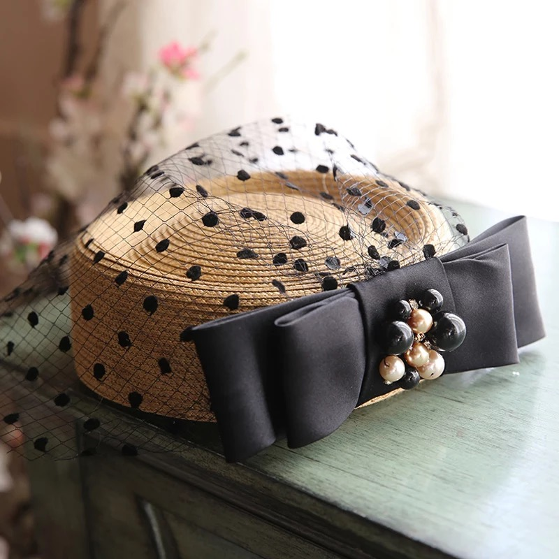 再入荷 麦わら帽子 トークハット カクテルハット トーク帽 通販 激安◆ ヘッドドレス ウエディング ウェディング ブライダル 当店は最高な サービスを提供します 結婚式 ヘアアクセサリー ヘッドピース