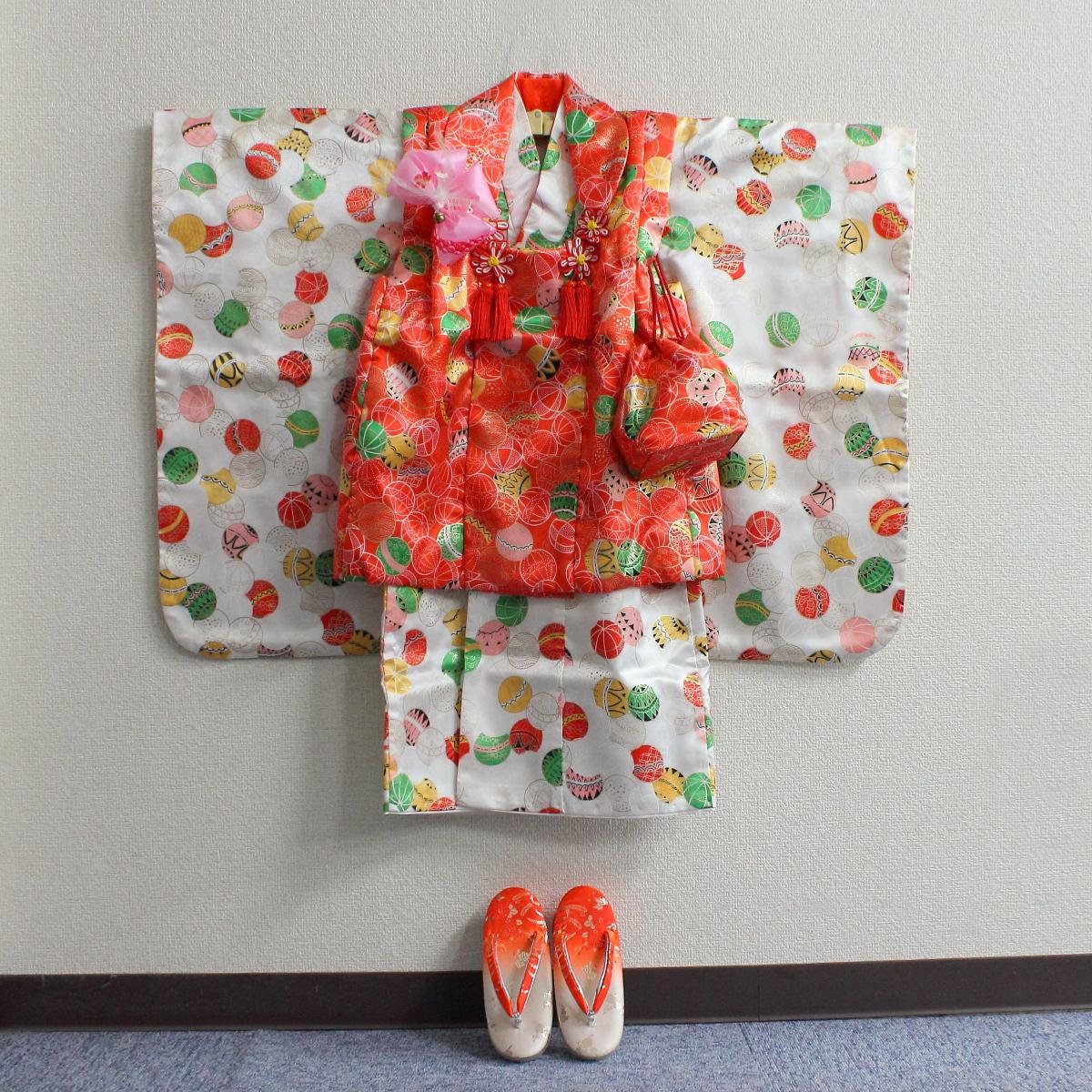 【あす楽】【中古】【No320025】女児 七五三 着物セット 3歳 祝着【ラッキーシール対応】