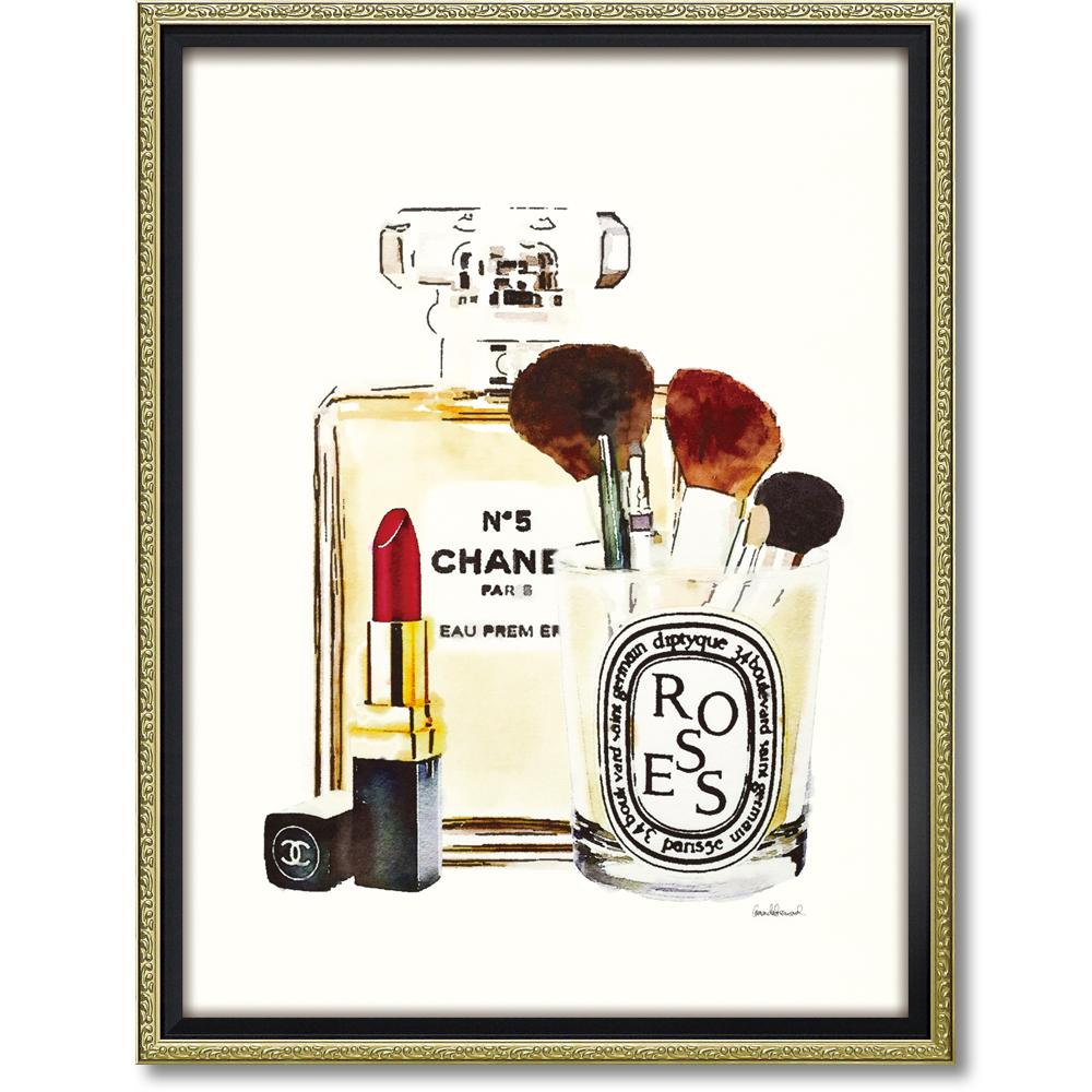 オマージュ キャンバスアート 「メイクアップステーション(M)」BC-120254996953284054/ シャネル CHANEL アート 絵画 かわいい おしゃれ 人気 アートパネル アートポスター ブランド アートパネル ブランド