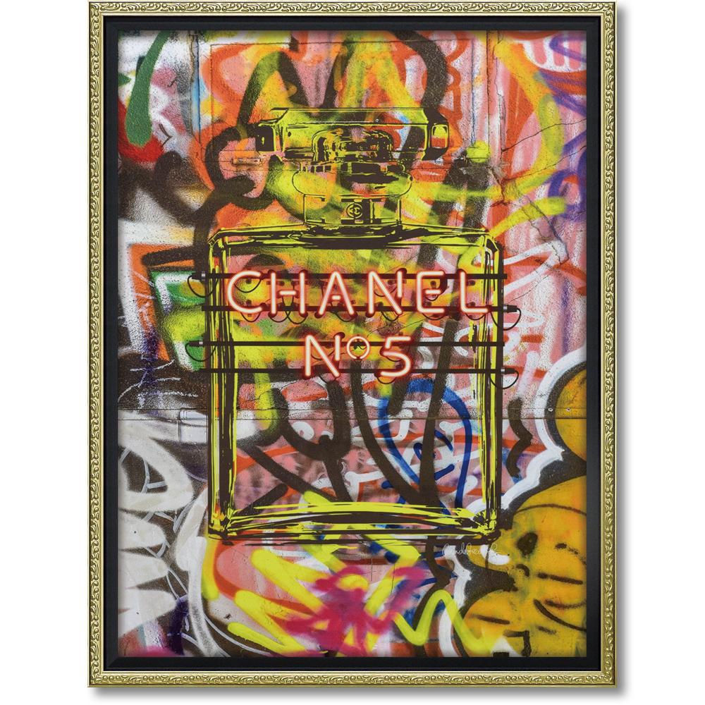 オマージュ キャンバスアート 「グラフィティ パフューム2(L)」BC-180164996953284344/ シャネル CHANEL アート 絵画 かわいい おしゃれ 人気 アートパネル アートポスター ブランド アートパネル ブランド