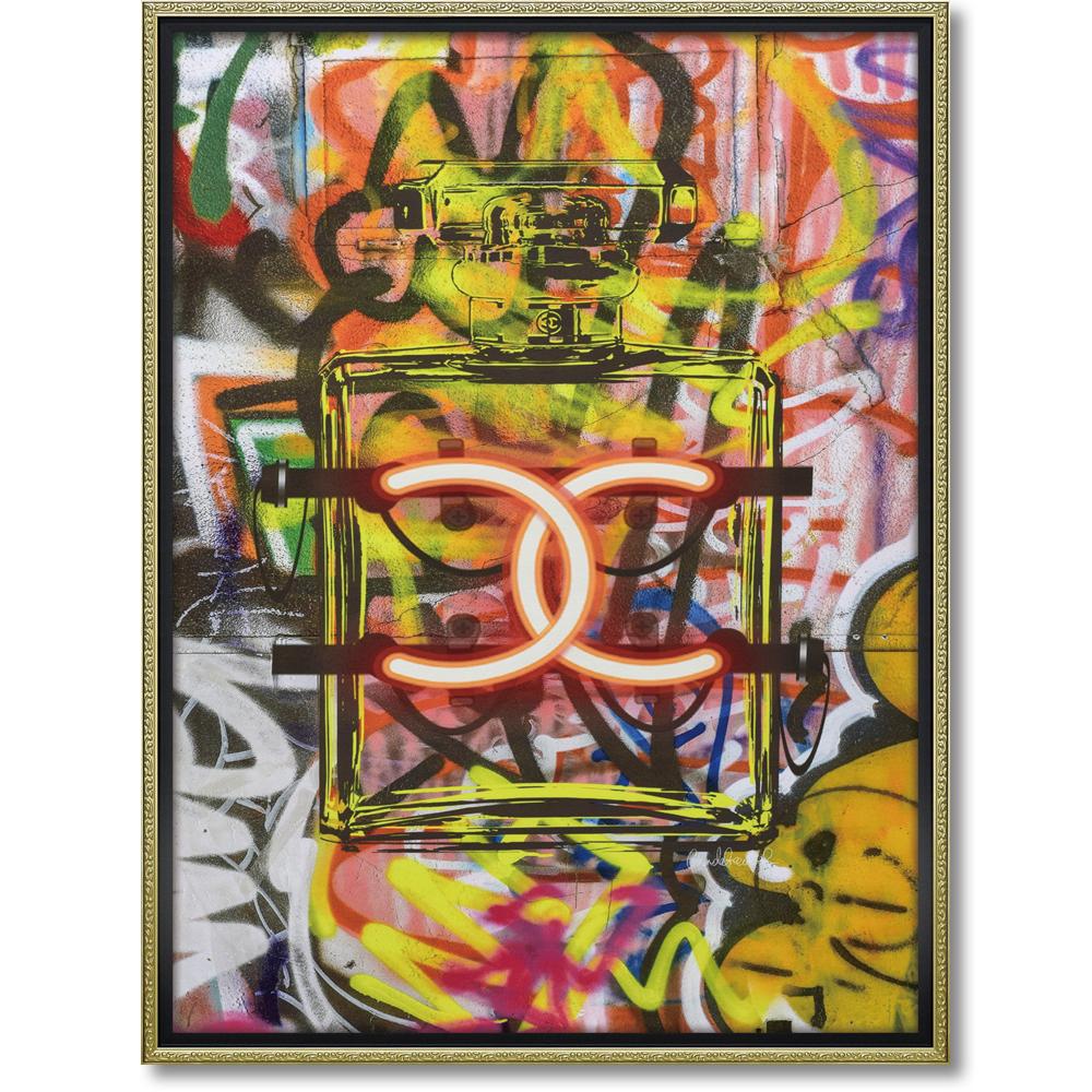 オマージュ キャンバスアート 「グラフィティ パフューム1(L)」BC-180154996953284337/ シャネル CHANEL アート 絵画 かわいい おしゃれ 人気 アートパネル アートポスター ブランド アートパネル ブランド