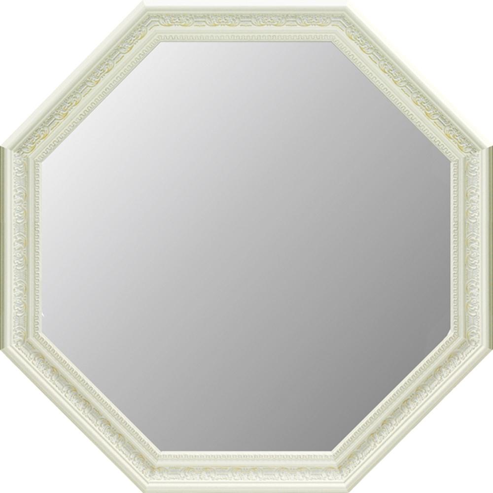 アンティーク大型 八角ミラー ホワイト AM-100214996953065776/ アンティーク アート おしゃれ 人気 幸運 八角ミラー 鏡