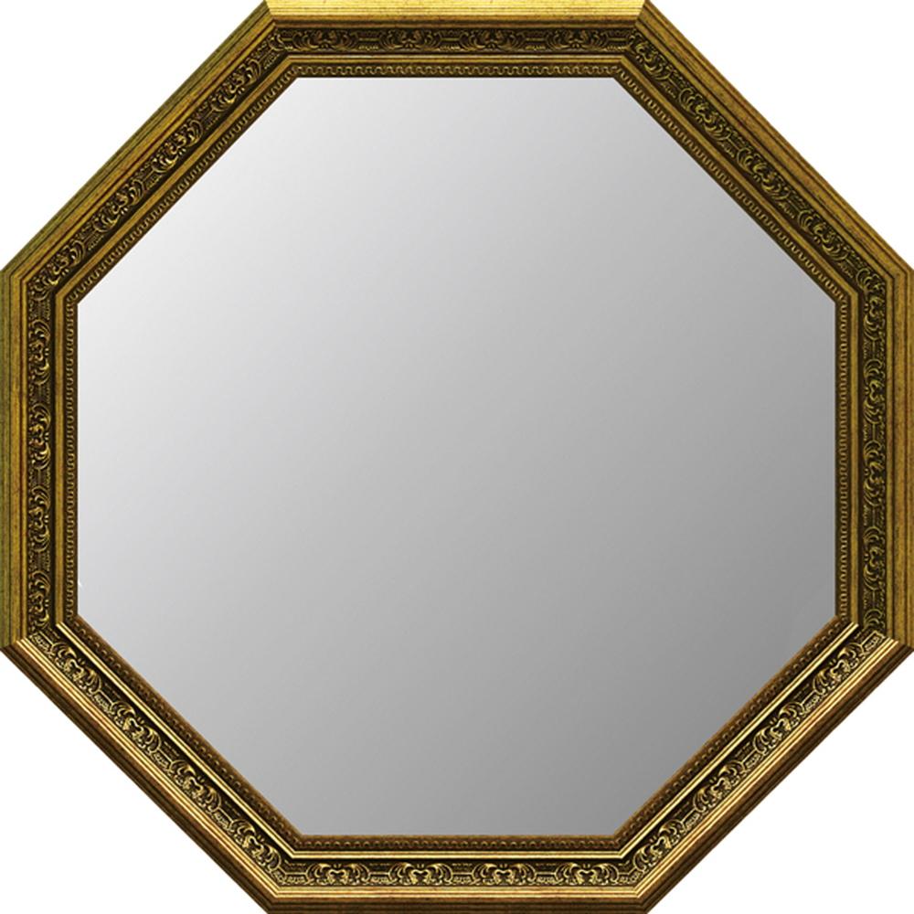 アンティーク大型 八角ミラー ゴールド AM-100224996953065783/ アンティーク アート おしゃれ 人気 幸運 八角ミラー 鏡