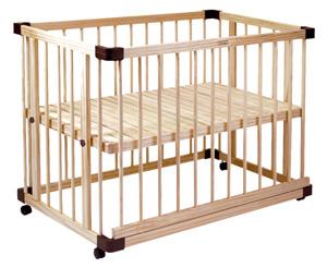【ママ割エントリーで+5倍】グランドール ファルスカ すのこ床板のベッドサイドベッド03 746050 【120サイズ】 / ベビーベッド プレイペン ベビー用品 赤ちゃん ベットサイドベット【ラッキーシール対応】
