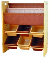 【送料無料】リトルプリンセス ブック&小物収納ケース チョコレートブラウン&カフェオレ 591123【ラッキーシール対応】