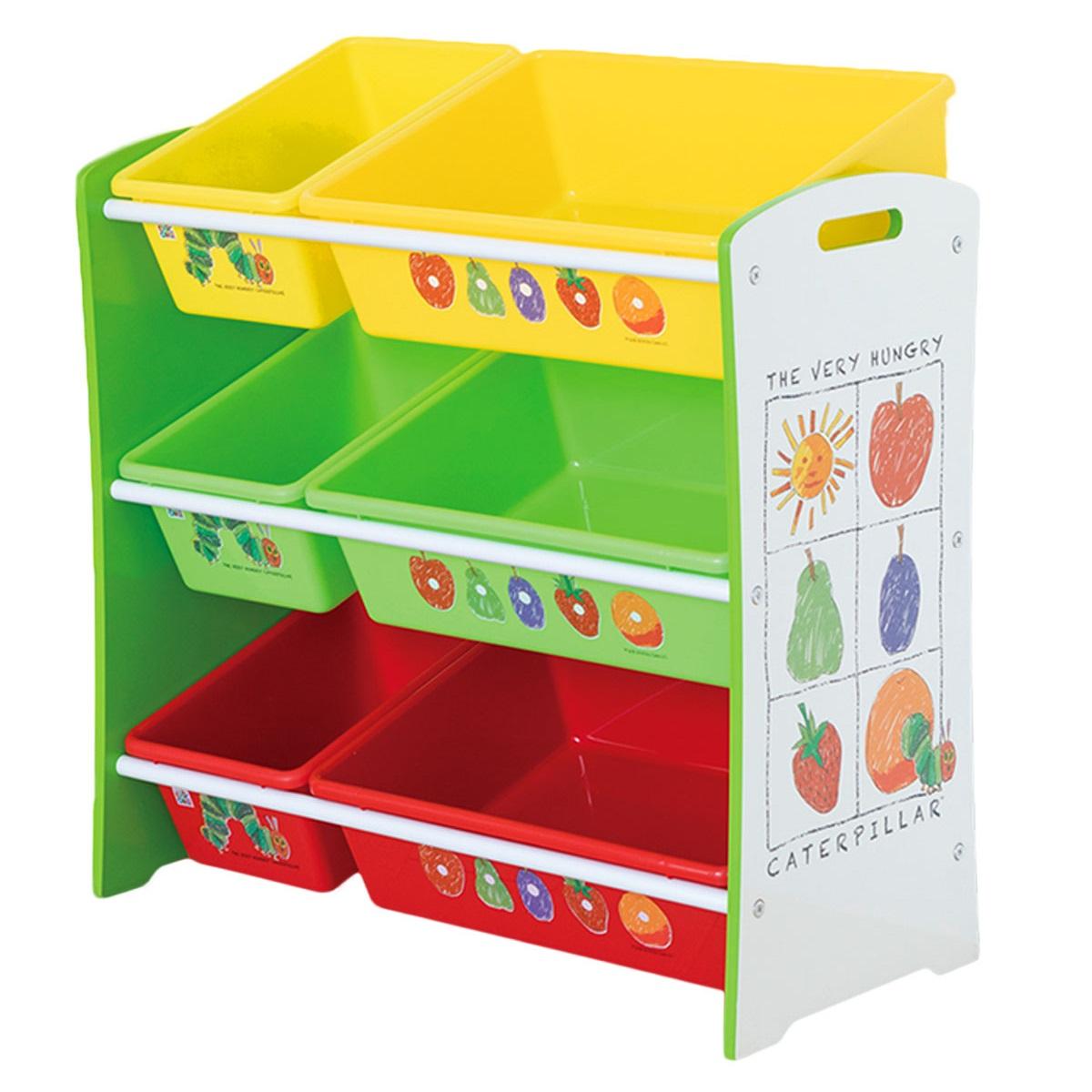日本育児 EricCarle(エリックカール) はらぺこあおむし おかたづけ大好き 収納棚 おもちゃ ラック 6830001001