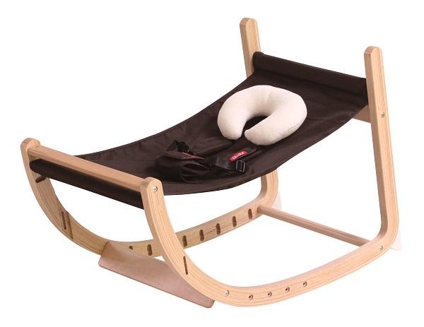 ファルスカ スクロールチェア プラス ブラウン 746100 / ロッキングチェア ベビーチェア キッズチェア ダイニングチェア 赤ちゃんから大人まで 木製