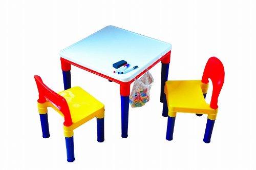 【送料無料】リトルプリンセス ブロックプレイ おえかきテーブル&チェアー 591284 【ブロック100個付・専用マーカー付・消しゴム付】 /【ラッキーシール対応】