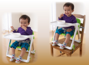 日本育児 スマートローチェア ピンク(NI-6390003001)/ ベビー用品 ローチェア ブースター 便利な2way 2本ベルトでしっかり固定 テーブル取り外し可【ラッキーシール対応】