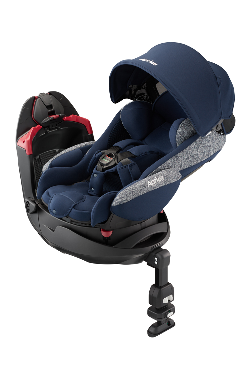 【送料無料】【新生児~18kgまで】Aprica アップリカ フラディアグロウAC ネイビーオーシャン(NV) 2053363 / チャイルドシート 平らなベッド 横向き シートベルト固定 【ラッキーシール対応】