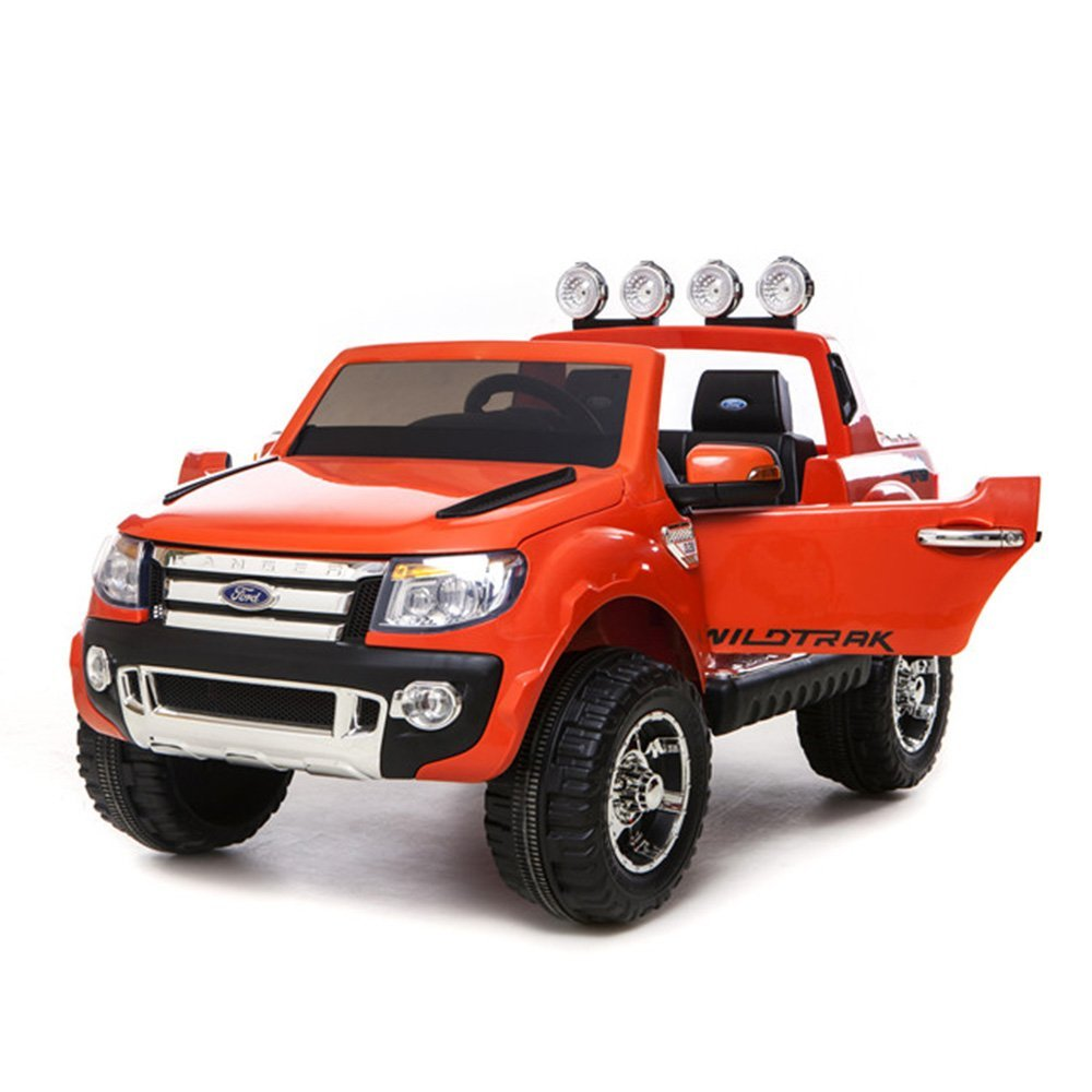【電動バッテリーカー 1歳~8歳】 FORD RANGER フォードレンジャー(アップグレードモデル) ORANGE オレンジ/ 超大型!二人乗りOK!Wモーター&大型バッテリーでパワフル! ラジコン操作もできる最強乗用玩具!