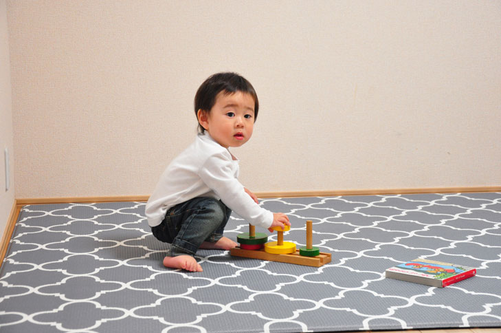 【送料無料】リトルプリンセス リバーシブルで使える ふかふかキッズプレイマットルネッサンス ラージサイズ(L) 91567 / 子供部屋・赤ちゃんの遊ぶスペースに!