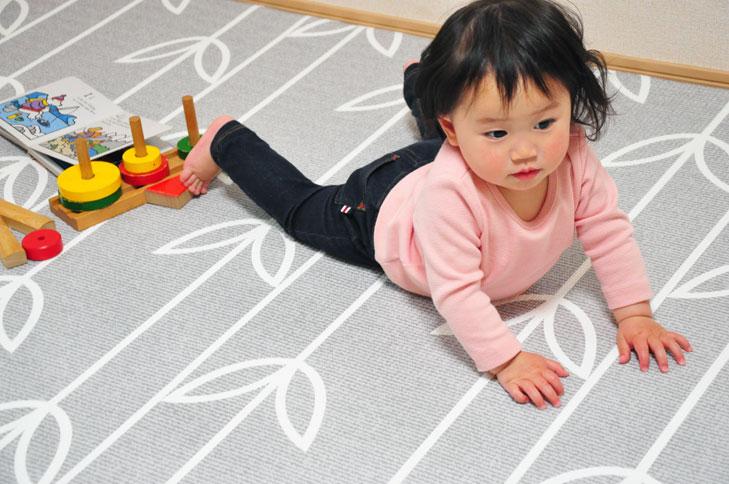 【ポイント10倍 送料無料】リトルプリンセス リバーシブルで使える ふかふかキッズプレイマットシーペタル グレイ ラージサイズ(L) 91574 / 子供部屋・赤ちゃんの遊ぶスペースに!【ラッキーシール対応】