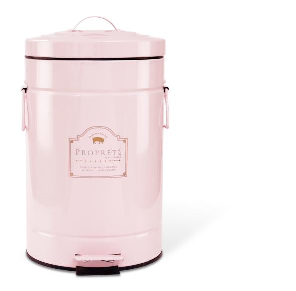 ダストボックス (L) Pink /ゴミ箱 キッチン収納 リビング 洗面所 ふた付き 12L オシャレ おしゃれ ペダル付き 12リットル フタ ピンク【ラッキーシール対応】