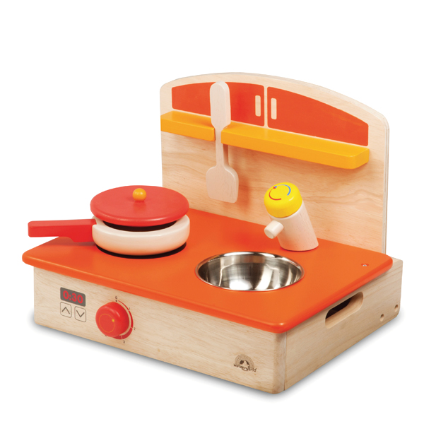 wonderworld おままごとシリーズ マイポータブルクッカー TYWW4557 / 木のおもちゃ 木製 キッチン タイマーが回転 取り外して収納できる 3歳ごろ~