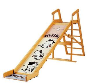 【2歳~6歳頃まで】ミルキー No.132 / 澤田工業 サワベビー 屋内用 国産 日本製 ナチュラル 家庭用 室内玩具 折り畳み 滑り台 すべりだい