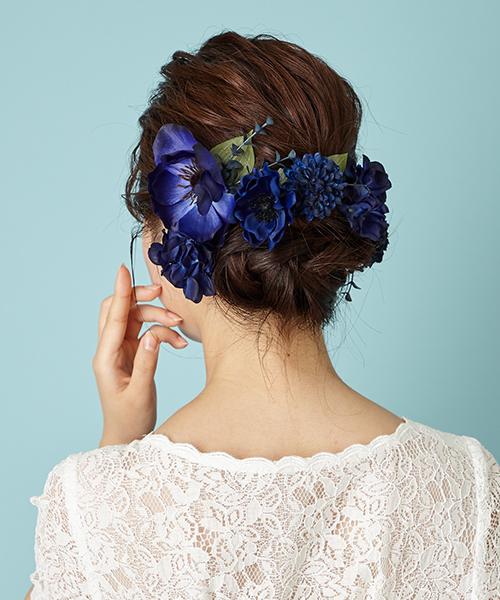 【Bridal Accessory】アートフラワー アネモネ6個SET ヘッドアクセサリー【結婚式 花嫁 新婦 二次会 大人 上品 披露宴 おしゃれ リボン ブライダル パーティー ヘッドドレス フォーマル ウェディング エメ AIMER aimer Aimer