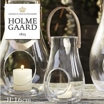野外 キャンドルスタンド 屋内 (S) H16 北欧雑貨 ライト ウィズ HOLMEGAARD DESIGN WITH LIGHT Lantern Clear クリアキャンドルホルダー デザイン ガラスホルムガード ローゼンダール 吹きガラスステンレス 蓋付き ランタン 4343502