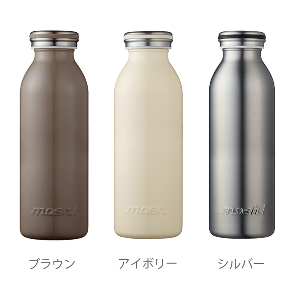 mosh! 450 ml of stainless steel bottles [モッシュステンレスボトル DMMB450 tumbler preservation thermal insulation cold storage thermos stainless steel water bottle lunch picnic Doshisha]