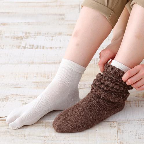 シルク足袋ソックス (絹靴下 かかと有り)コンフォートハグ シルク 足袋ソックス (絹靴下 かかと有り)