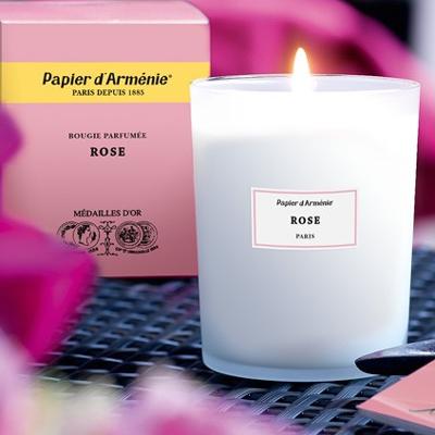パピエダルメニイ with special scented candles-rose candles candles candles