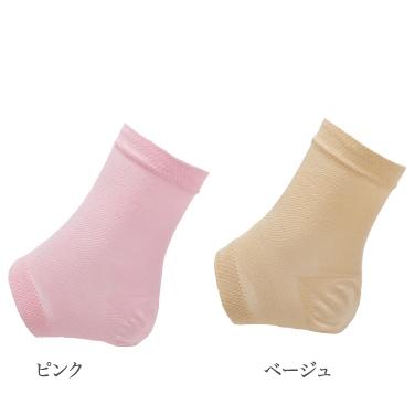 Silk heel care socks