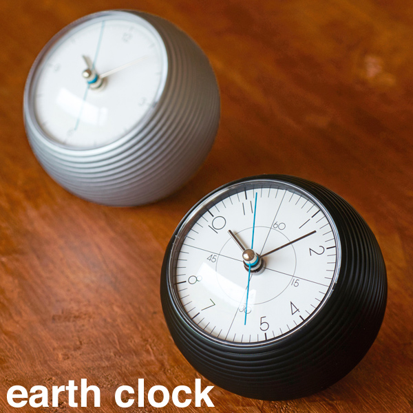 【26時間限定!最大10%OFFクーポン配布中!】タカタレムノス earth clock アースクロック(TIL-16-10 / TIL-16-11) / 時計 | 置時計 置き時計 おしゃれ 新築祝い とけい おしゃれ時計 かわいい クロック アナログ インテリア インテリア雑貨 白 黒 ホワイト ブラック
