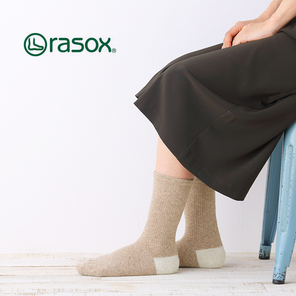 La Sox basic wool (BA132CR01) rasox [La Sox women's rasox wool socks socks L-shaped]
