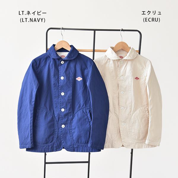 DANTON Danton cotton canvas round collar work jacket #JD-8447SCV | Lady's | Folded neckpiece of haori | Round collar | Cotton | Cotton canvas | Jacket | Light overcoat | 2013SS fs3gm