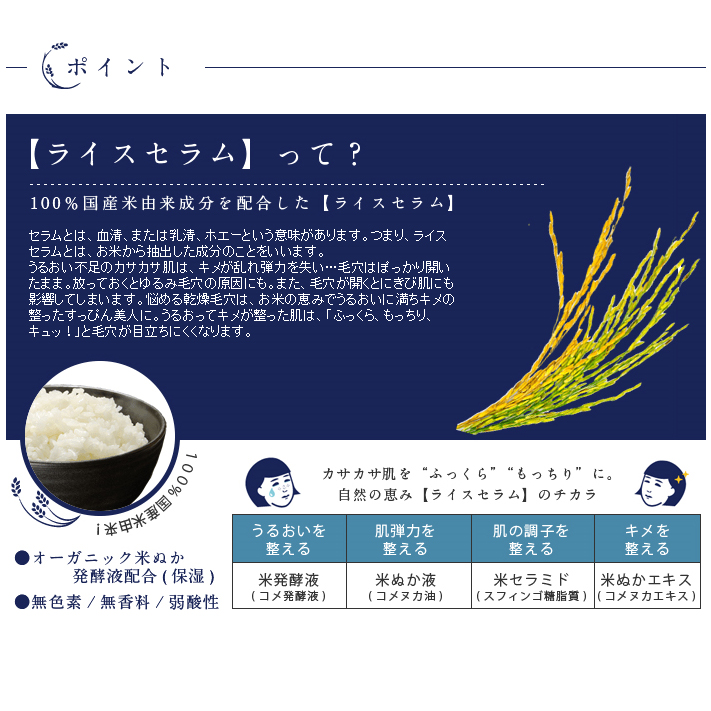 Pores nadeko rice mask 10 sheets into Ishizawa Institute [comedogenic moisturizer moisturizing lotion rice serum rice dry skin acne pores care calluses care lotion mask]