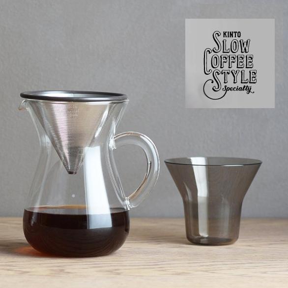킨 토 커피 카라 페 세트 300ml 스텐 레 스 (SCS-02-CC-ST) [커피/커피/집 카페/핸드 드립/KINTO] 2 개 용