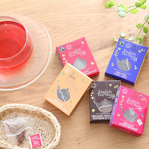 English Tea Shop 1袋入りミニペーパーボックス |イングリッシュティーショップ ギフト 有機栽培 紅茶 オーガニック ハーブティー  オーガニック認証 プチギフト ティーバッグ おしゃれ