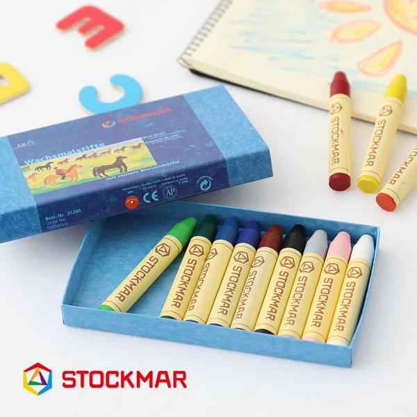 鮮やかな色が響き合う みつろうクレヨン シュタイナー教育 ギフト アウトレット プレゼント シュトックマー STOCKMAR みつろうスティッククレヨン 色彩論 ゲーテ 安全 誕生日 格安 価格でご提供いたします 蜜蝋 12色紙箱 クレヨン