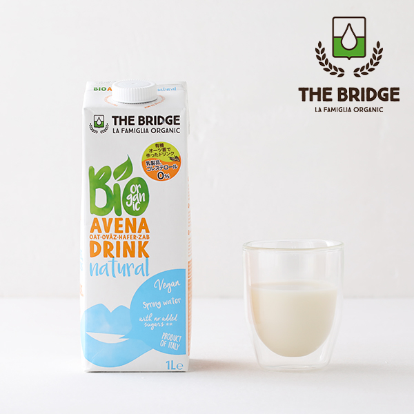 牛乳 豆乳に続く 第3のミルク オーツミルク ブリッジ THE BRIDGE 現金特価 オーツドリンク 1L 植物性ミルク 祝日 乳製品不使用 オーツ 低カロリー 低脂肪 コレストロールフリー ヘルシー 有機JAS 1000ml オーガニック