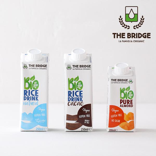牛乳 豆乳に続く 第3のミルク ミニパック ブリッジ THE BRIDGE オーガニックドリンク ライスドリンク オリジナル 低脂肪 乳製品不使用 即納送料無料 250ml グルテンフリー 200ml チョコレート アーモンドドリンク お米 低カロリー 植物性ミルク スーパーセール
