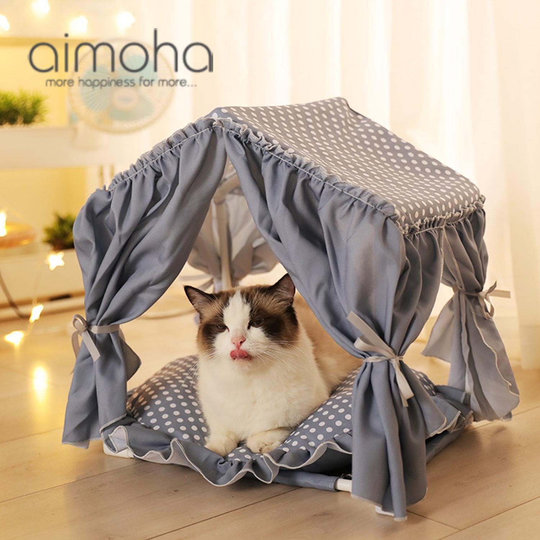 《 可愛いテント型 ペットクッション 》 当店一番人気 ペットベット ネコ 犬 ペットベッド おしゃれ テント型 ふわふわ 組み立て式 ペットソファー メルヘン 柔らかい ラッピング不可 マット 犬用 ペットハウス プリンセスベット かわいい 猫用 推奨