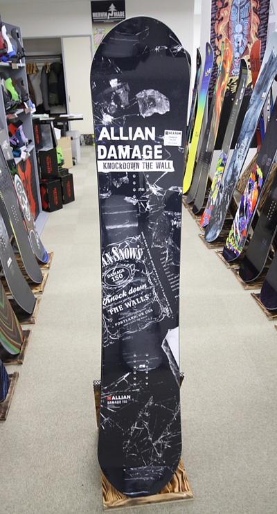 【在庫限最終特価】 ALLIAN SNOWBOARD 【 DAMAGE @70200】 アライアン スノーボード 【正規代理店商品】