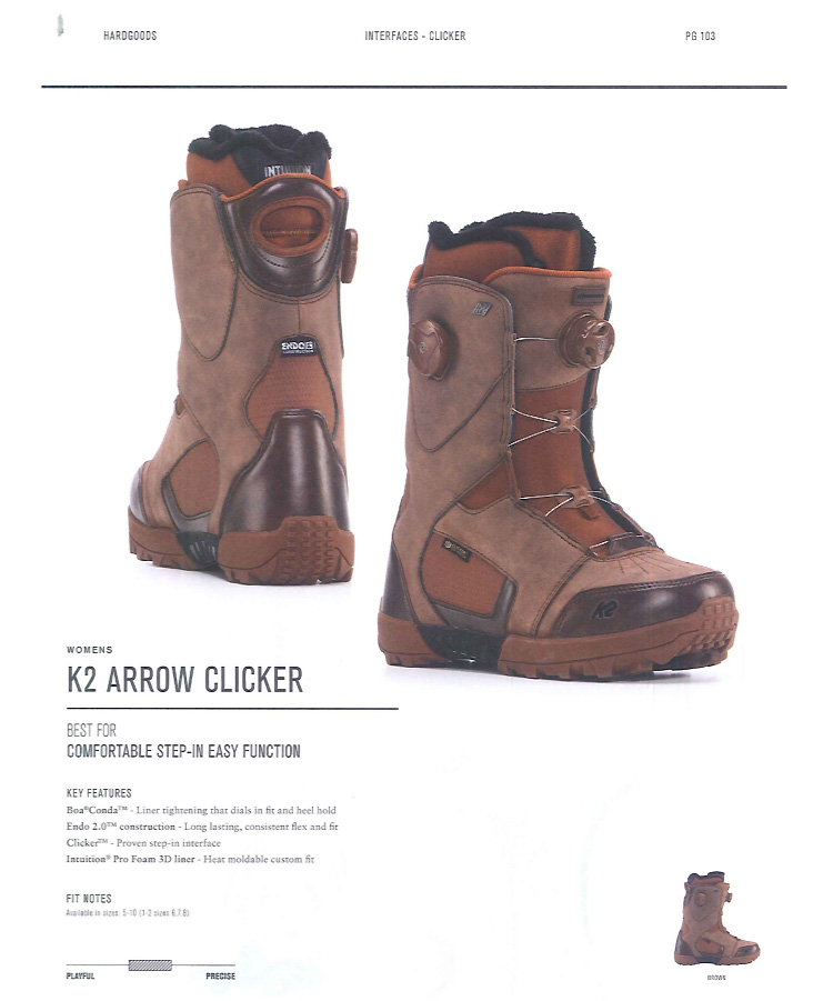 K2 SNOWBOARDING BOOTS [ K2 ARROW CLICKER @60480] ケイツー ブーツ 安心の正規輸入品