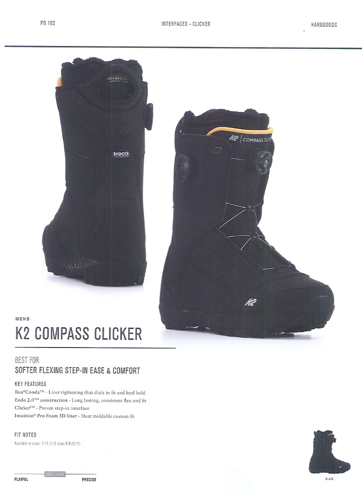 K2 SNOWBOARDING BOOTS [ K2 COMPASS CLICKER @60480] ケイツー ブーツ 安心の正規輸入品