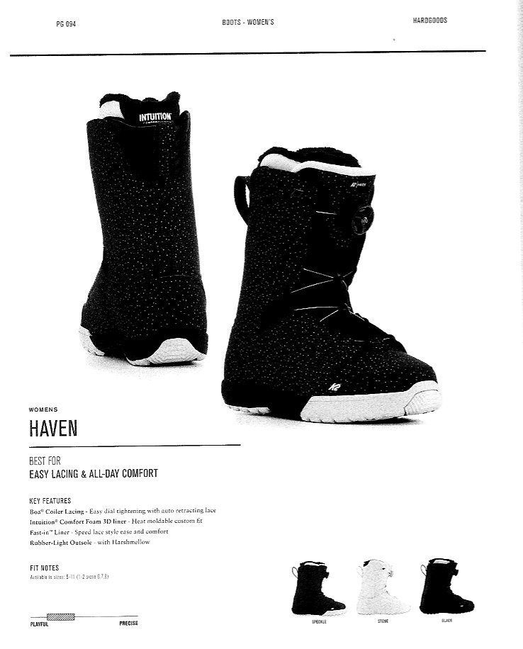 【在庫限最終特価】 K2 SNOWBOARDING BOOTS [ HAVEN @37800] ウーメンズ ブーツ 安心の正規輸入品