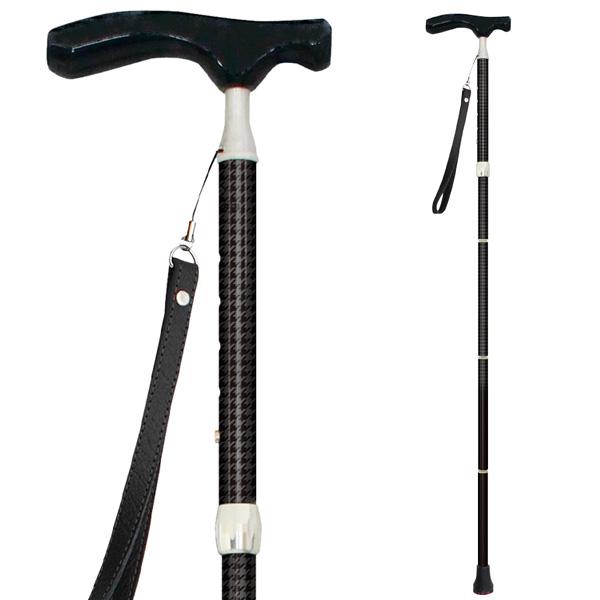 sinano stick [グランドカイノス 千鳥格子ブラック]シナノ 歩行杖・ステッキ KAINOS Men's 15%OFF 【送料