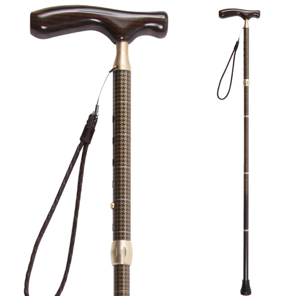 sinano stick [ グランドカイノス 千鳥格子ブラウン @28080] シナノ 歩行杖・ステッキ KAINOS Men's 【 ウォーキング 用】【正規代理店商品】