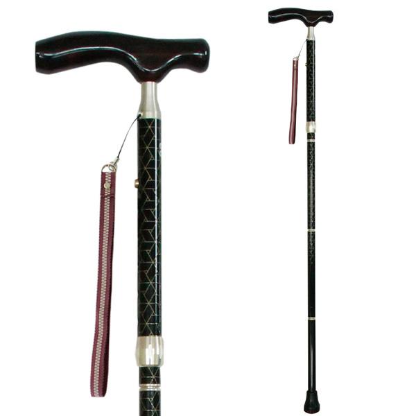 sinano stick [KAINOS sanada BLACK]シナノ 歩行杖・ステッキ カイノス真田 黒(男性向け) 15%OFF 【送料